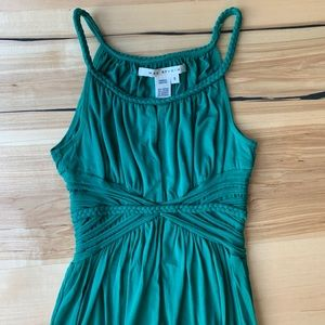 Max Studio Emerald Green Braided Maxi Dress